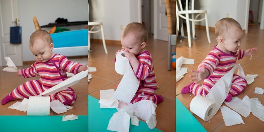 Рвет бумагу - развиваем моторику пальцев