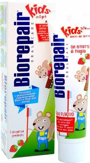 Зубная паста Biorepair Kids с экстрактом земляники для детей от 0 до 6 лет фото
