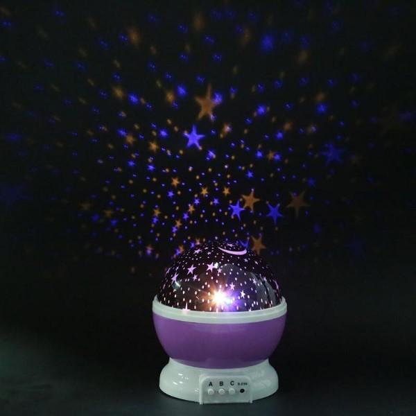 """Светильник-ночник звездное небо с 3 режимами работы """"Original Goods"""" ( Фиолетовый ) фото"""