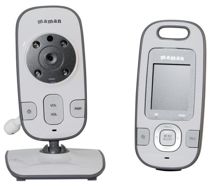 Видеоняня Maman BM2600 белый/серый/черный фото