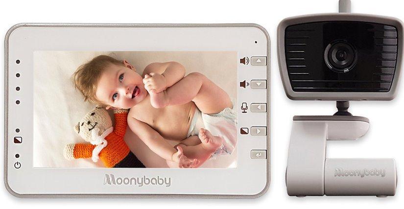 Видеоняня Moonybaby 55933 белый/серый/черный фото