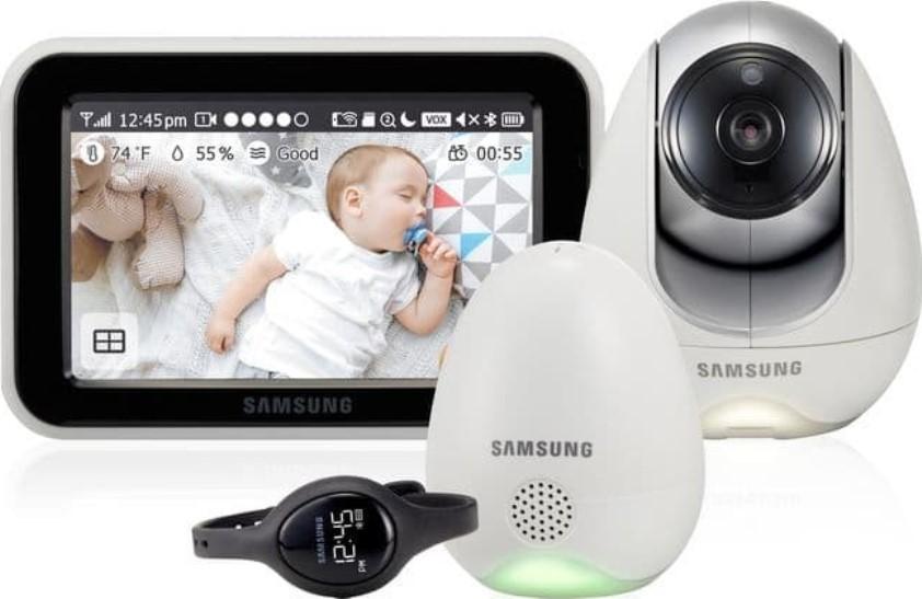 Видеоняня Samsung SEW-3057WP белый/серый/черный фото