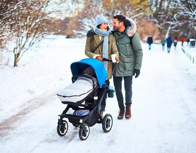 15 лучших прогулочных колясок для зимы с большими колесами